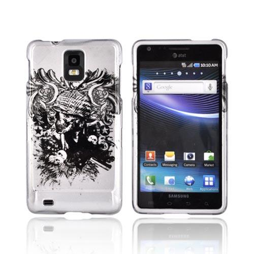 Samsung Infuse i997 Hard Case - Army Skull on Silver