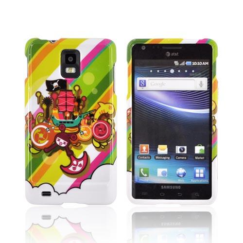Samsung Infuse i997 Hard Case - Colorful Pirate Bay on White