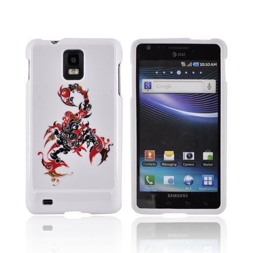 Samsung Infuse i997 Hard Case - Red/ Black Scorpion on White