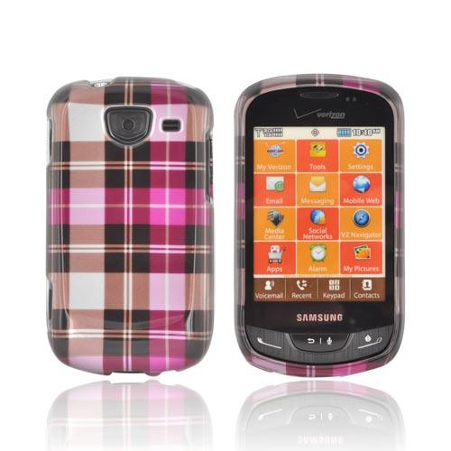 Samsung Brightside U380 Hard Case - Pink Flowers & Butterflies on Black