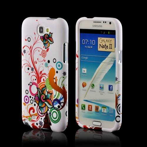 Autumn Floral Burst on White Hard Case for Samsung Galaxy Note 2