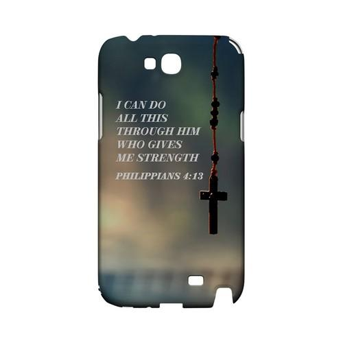 Philippians 4:13 - Geeks Designer Line (GDL) Bible Verse Series Hard Back Cover for Samsung Galaxy Note 2