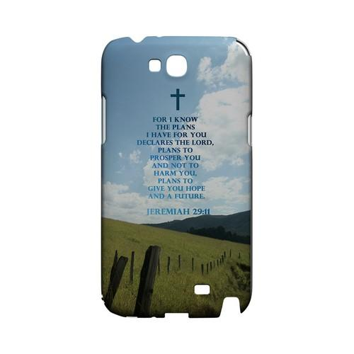Jeremiah 29:11 - Geeks Designer Line (GDL) Bible Verse Series Hard Back Cover for Samsung Galaxy Note 2