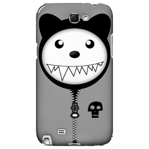 Grimmycat - Geeks Designer Line Hoodie Kitty Series Hard Case for Samsung Galaxy Note 2