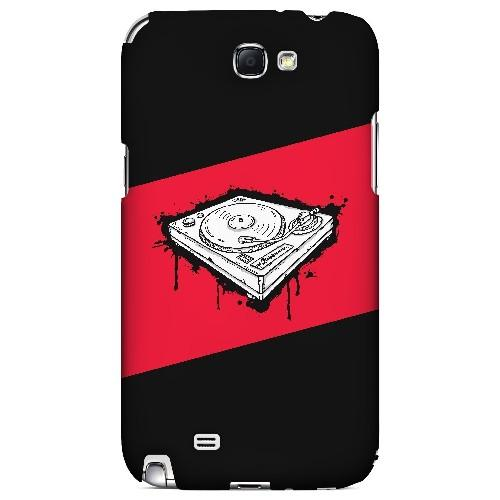 Wheel of Steel Red - Geeks Designer Line Music Series Hard Case for Samsung Galaxy Note 2