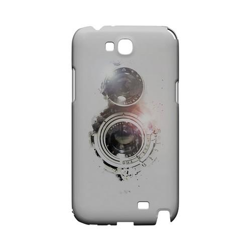 White Lens Flare - Geeks Designer Line (GDL) Retro Series Hard Back Cover for Samsung Galaxy Note 2