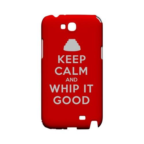 Red Whip It Good Geeks Designer Line Keep Calm Series Slim Hard Case for Samsung Galaxy Note 2