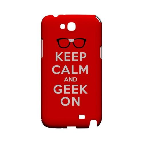 Red Geek On Geeks Designer Line Keep Calm Series Slim Hard Case for Samsung Galaxy Note 2