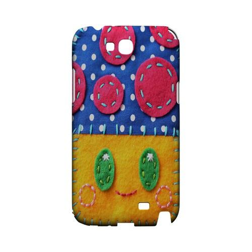 Blue/ Yellow Mushroom Geek Nation Program Exclusive Jodie Rackley Series Hard Case for Samsung Galaxy Note 2