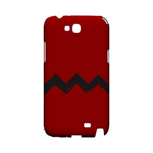 Red Good Grief! Geeks Designer Line Zig Zag Series Slim Hard Case for Samsung Galaxy Note 2