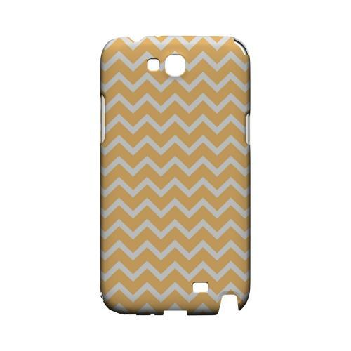 White on Light Orange Geeks Designer Line Zig Zag Series Slim Hard Case for Samsung Galaxy Note 2