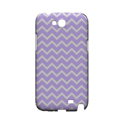 White on Light Purple Geeks Designer Line Zig Zag Series Slim Hard Case for Samsung Galaxy Note 2