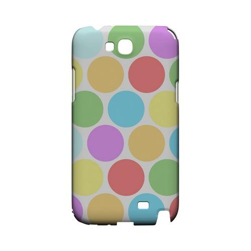 Big & Rainbow on White Geeks Designer Line Polka Dot Series Slim Hard Case for Samsung Galaxy Note 2