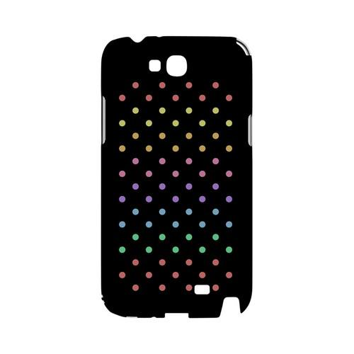 Rainbow Dots on Black Geeks Designer Line Polka Dot Series Slim Hard Case for Samsung Galaxy Note 2