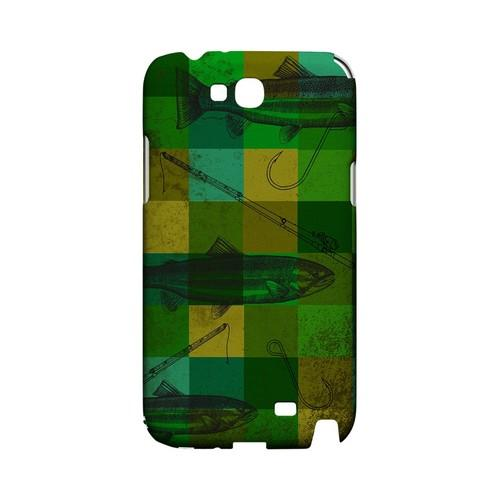 Green Plaid Trout Design - Geeks Designer Line (GDL) Fish Series Hard Back Cover for Samsung Galaxy Note 2