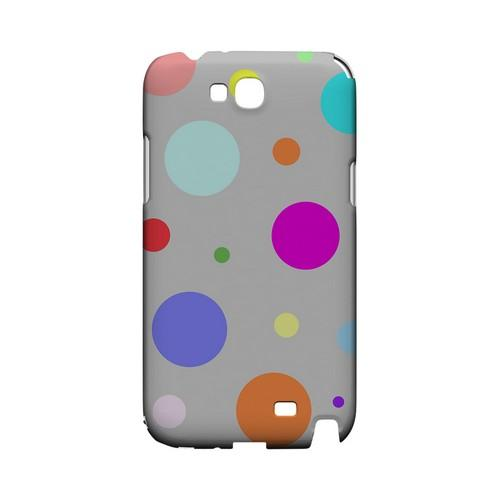 Random & Rainbow on Gray Geeks Designer Line Polka Dot Series Slim Hard Case for Samsung Galaxy Note 2