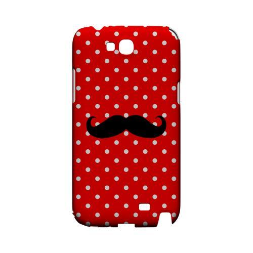 Stache on Red Geeks Designer Line Polka Dot Series Slim Hard Case for Samsung Galaxy Note 2