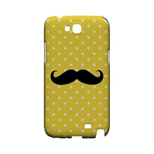 Stache on Yellow Geeks Designer Line Polka Dot Series Slim Hard Case for Samsung Galaxy Note 2