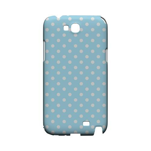 White Dots on Sky Blue Geeks Designer Line Polka Dot Series Slim Hard Case for Samsung Galaxy Note 2