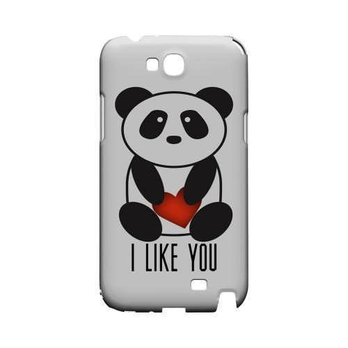 I Like You Panda Geeks Designer Line Heart Series Slim Hard Case for Samsung Galaxy Note 2