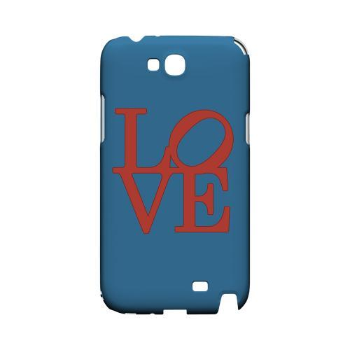 Red Love on Blue Geeks Designer Line Heart Series Slim Hard Case for Samsung Galaxy Note 2