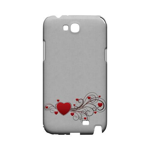 Love Bloom Geeks Designer Line Heart Series Slim Hard Case for Samsung Galaxy Note 2