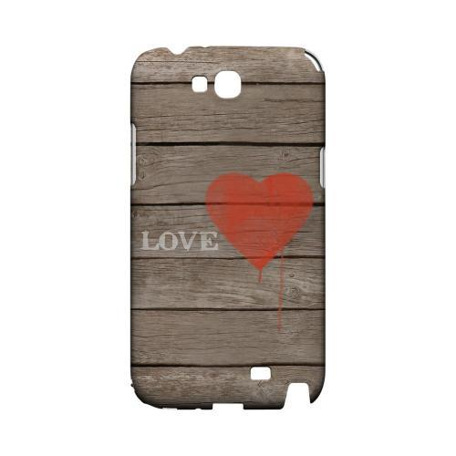 Rustic Love Geeks Designer Line Heart Series Slim Hard Case for Samsung Galaxy Note 2