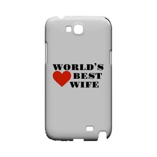 World's Best Wife Geeks Designer Line Heart Series Slim Hard Case for Samsung Galaxy Note 2