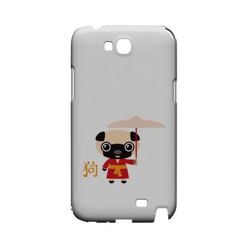 Dog on White Geeks Designer Line Chinese Horoscope Series Slim Hard Case for Samsung Galaxy Note 2