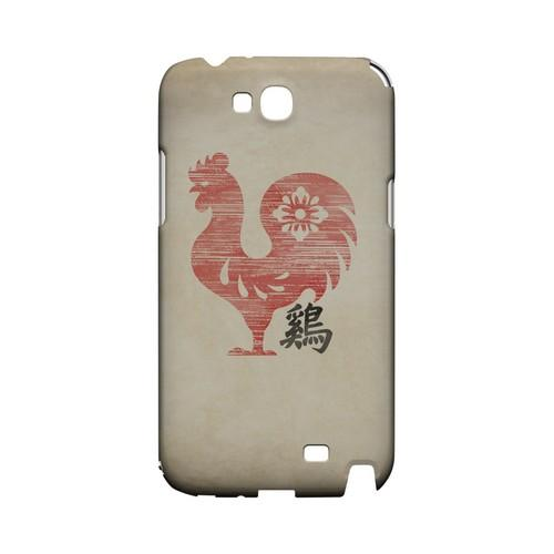 Grunge Rooster Geeks Designer Line Chinese Horoscope Series Slim Hard Case for Samsung Galaxy Note 2