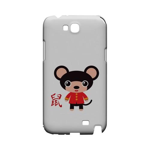 Rat on White Geeks Designer Line Chinese Horoscope Series Slim Hard Case for Samsung Galaxy Note 2
