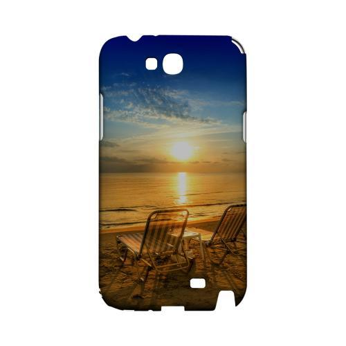 Beach Chair Sunrise Geeks Designer Line Beach Series Slim Hard Case for Samsung Galaxy Note 2