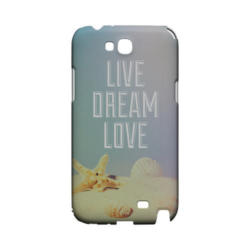 Live Dream Love Geeks Designer Line Beach Series Slim Hard Case for Samsung Galaxy Note 2