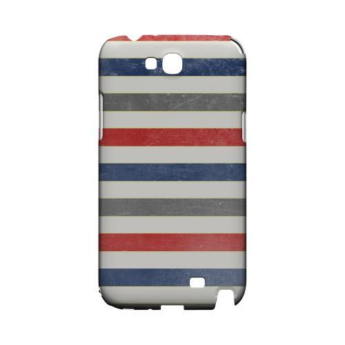 Stripey Blue/ Red - Geeks Designer Line Stripe Series Hard Case for Samsung Galaxy Note 2