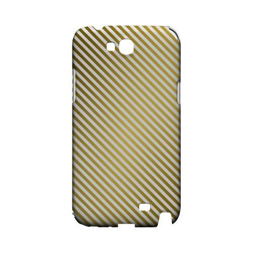 Thin Golden Diagonal - Geeks Designer Line Stripe Series Hard Case for Samsung Galaxy Note 2