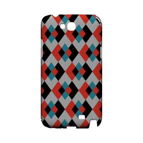 Double Diamond Vision - Geeks Designer Line Checker Series Hard Case for Samsung Galaxy Note 2