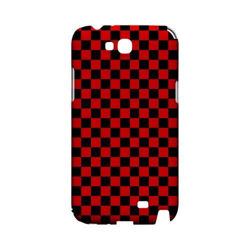 Red/ Black - Geeks Designer Line Checker Series Hard Case for Samsung Galaxy Note 2