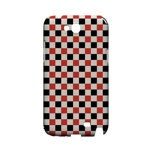 Red/ Black on Cream - Geeks Designer Line Checker Series Hard Case for Samsung Galaxy Note 2