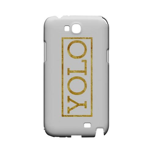 Gold YOLO - Geeks Designer Line YOLO Series Hard Case for Samsung Galaxy Note 2