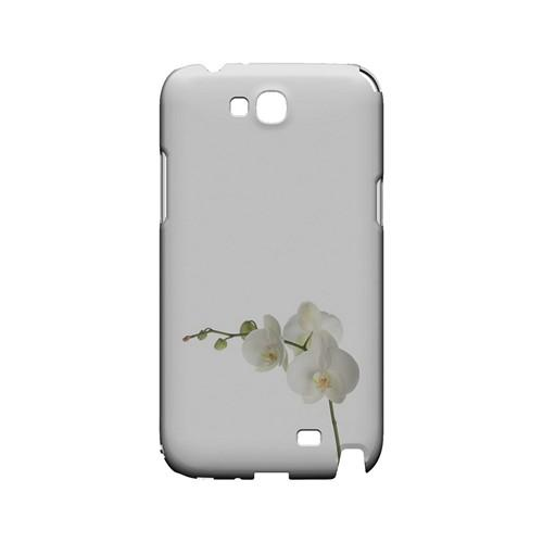 Simple White Orchid - Geeks Designer Line Floral Series Hard Case for Samsung Galaxy Note 2