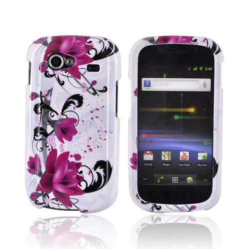 Google Nexus S Hard Case - Pink Flowers on White