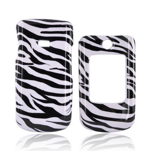 Samsung Contour R250 Hard Case - Black/White Zebra