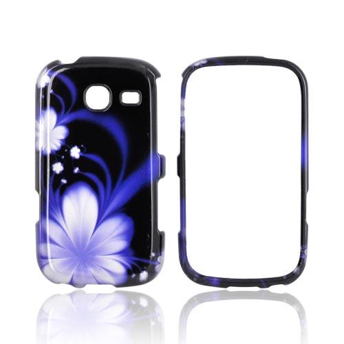 Samsung Freeform 3 Hard Case - Purple Flower on Black