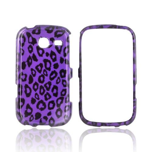 Samsung Freeform 3 Hard Case - Purple/ Black Leopard