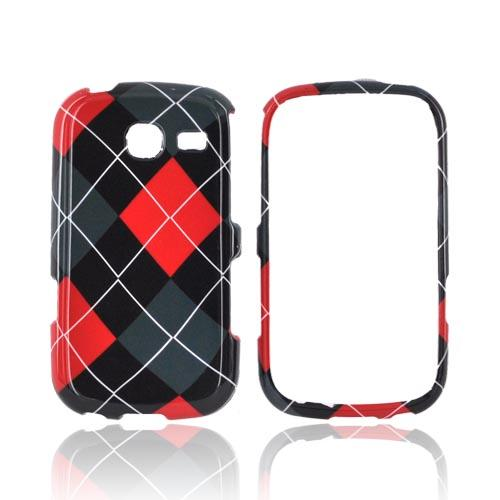 Samsung Freeform 3 Hard Case - Red/ Gray/ Black Argyle