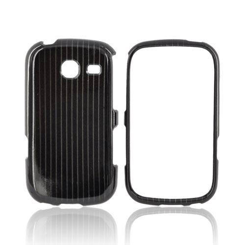 Samsung Freeform 3 Hard Case - Silver Lines on Black