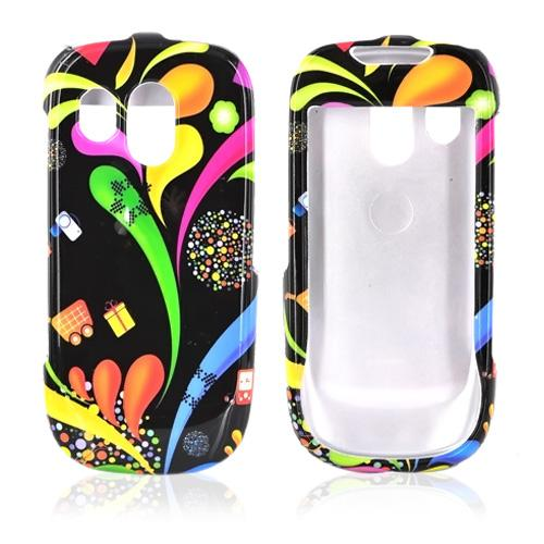 Samsung R860 Hard Case - Colorful Paint Splashes on Black
