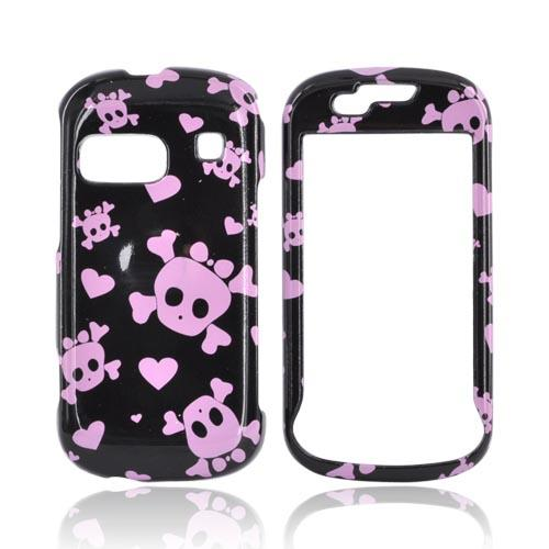 Samsung Craft R900 Hard Case - Pink Skulls on Black