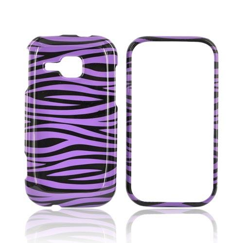 Samsung Galaxy Indulge R910 Hard Case - Purple/Black Zebra