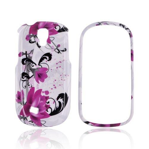 Samsung Gravity Smart Hard Case - Pink Flowers on White